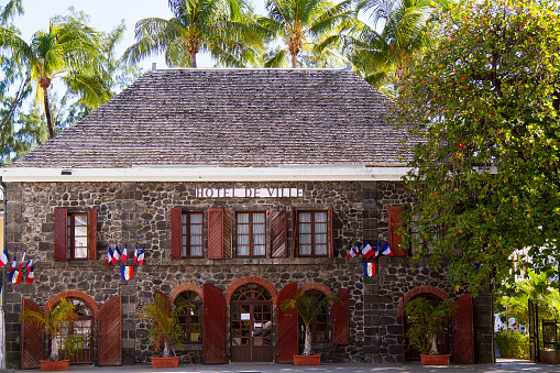 City Hall Official Building Saintleu Reunion Island Stock Photo - Download Image Now