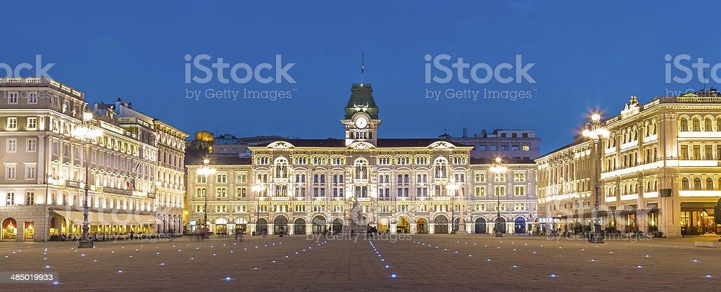 City Hall, Palazzo del Municipio, Trieste, Italy. stock photo