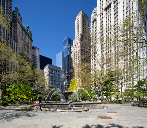 Rathauspark Brunnen. New York City Manhattan – Foto