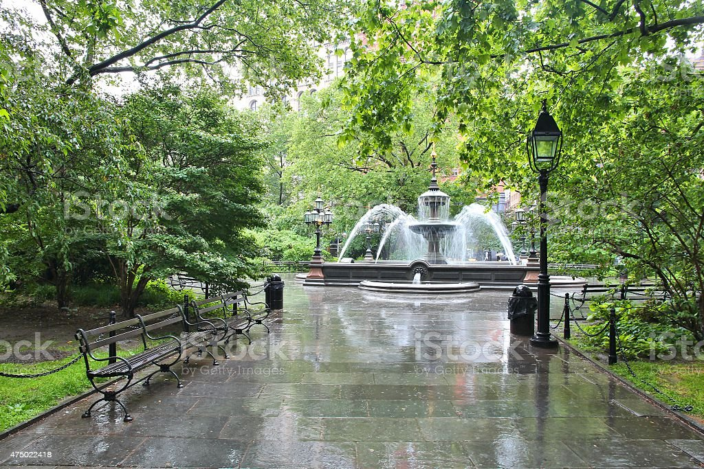 City Hall Park, New York stock photo