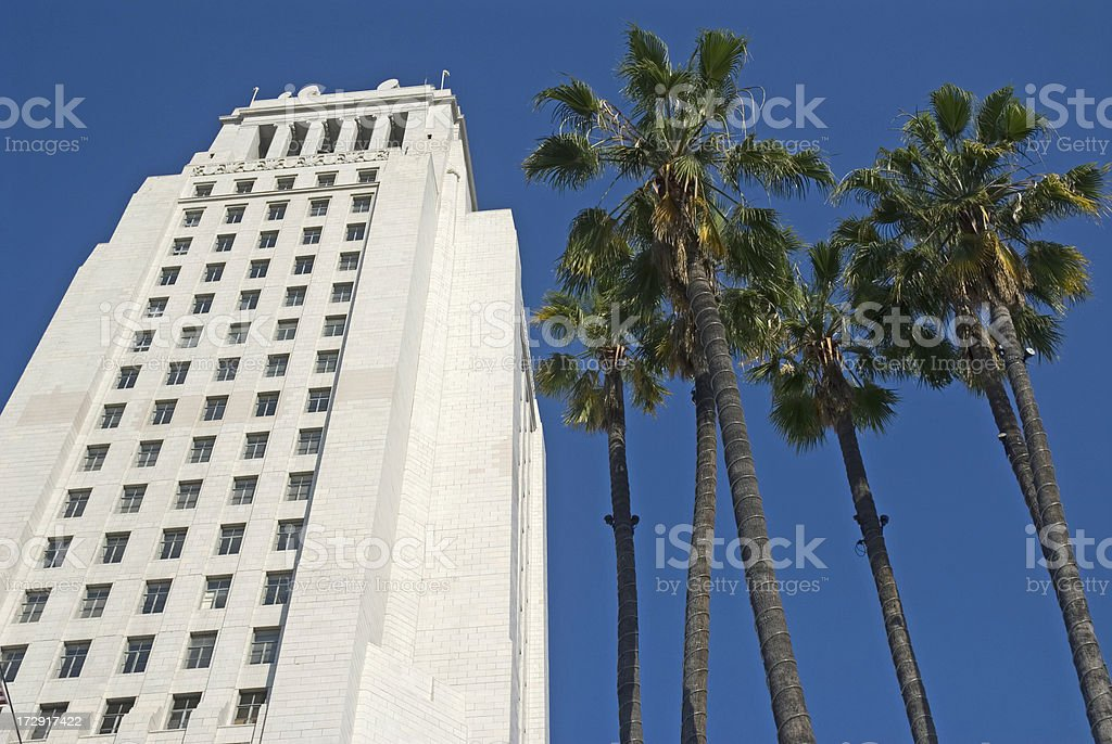 LA CIty Hall royalty-free stock photo