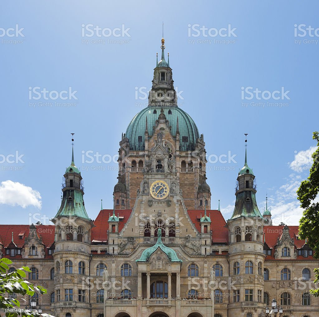City Hall (Neue Rathaus) stock photo