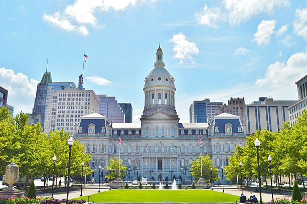 city hall baltimore maryland baltimore maryland stock pictures, royalty-free photos & images