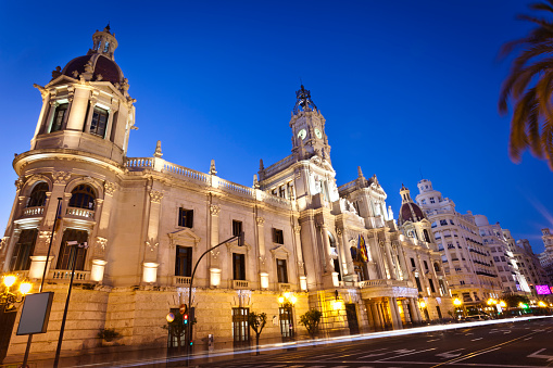 City Hall Plaza del Ayuntamiento Valencia Spain