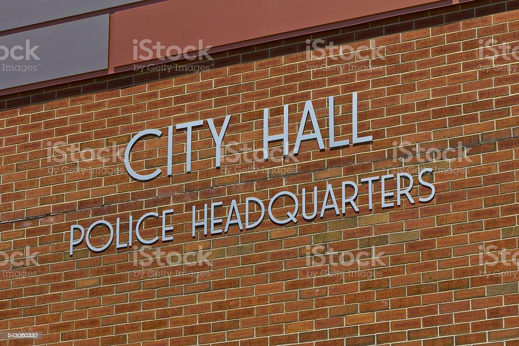 City Hall & Police Headquarters III stock photo