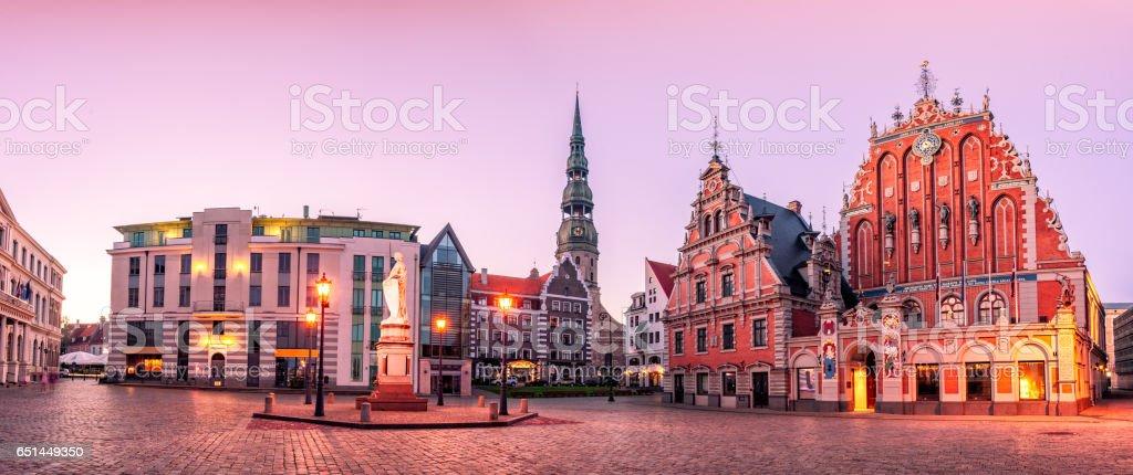 City Hall Square Riga old Town, Latvia royalty-free stock photo