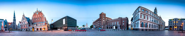 City Hall Square Riga Gamla stan, Lettland bildbanksfoto