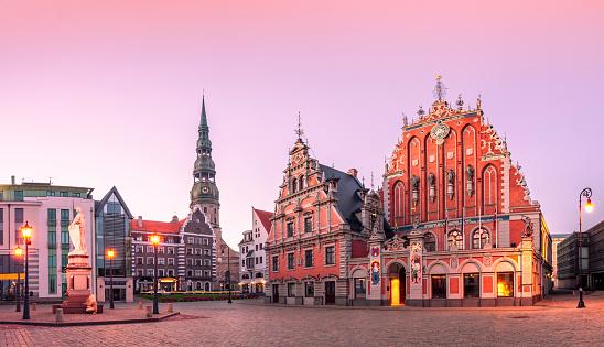 City Hall Square Riga old Town, Latvia