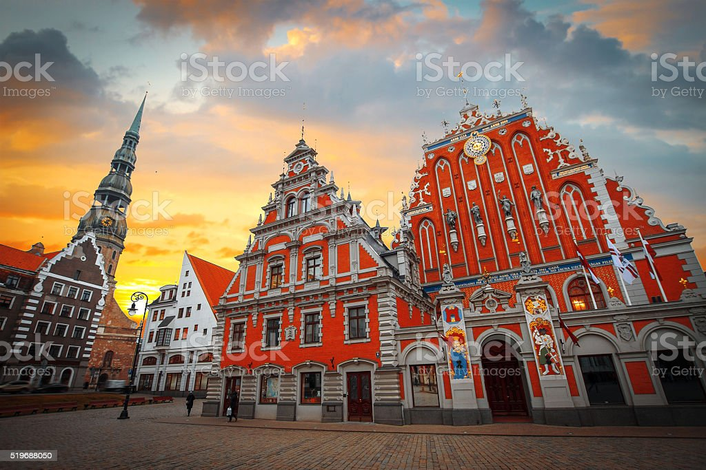 City Hall Square with House stock photo
