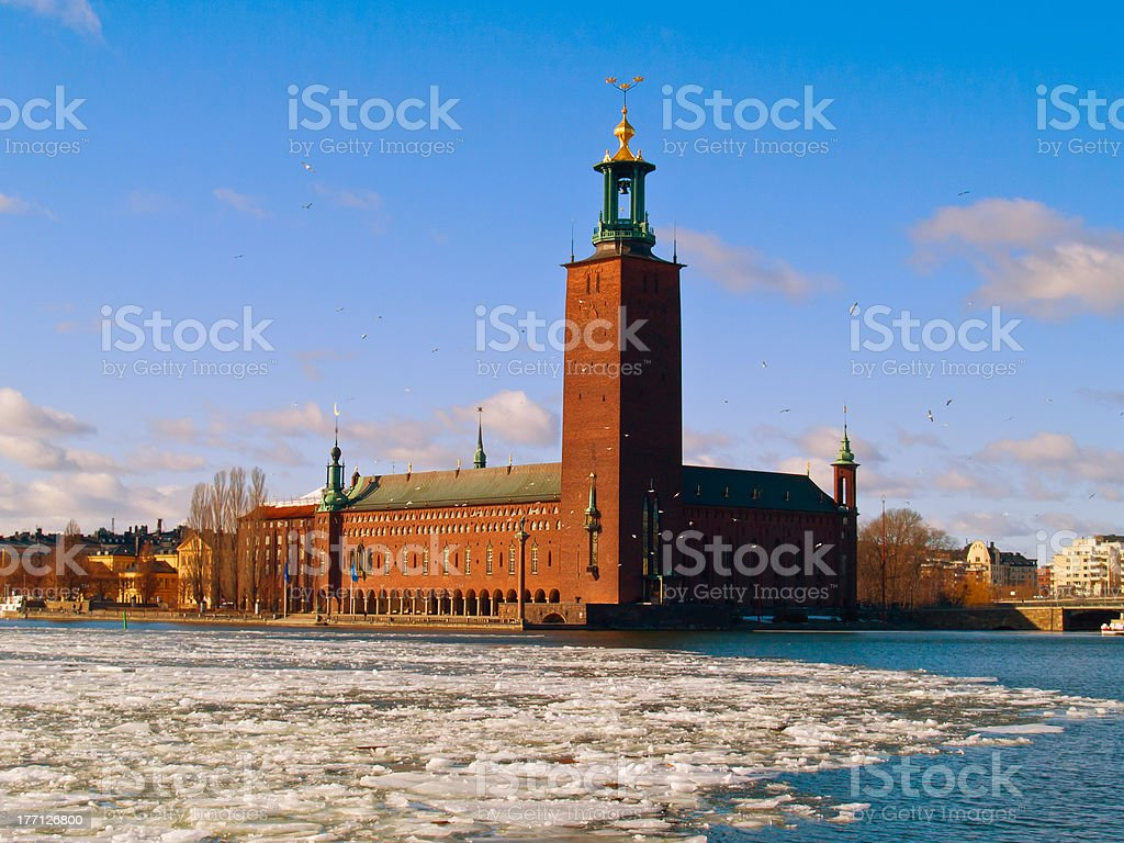 city hall, Stockholm, Sweden stock photo