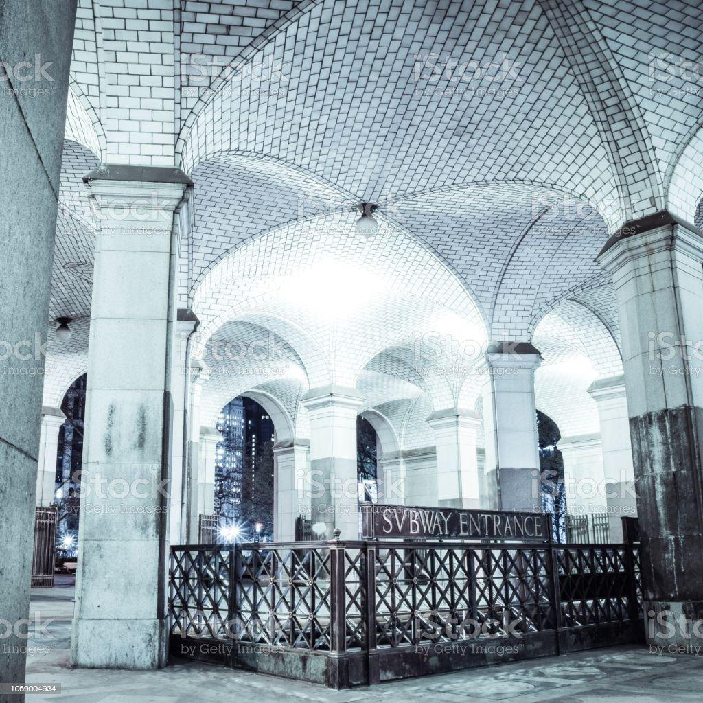 City Hall Subway Station, New York City stock photo