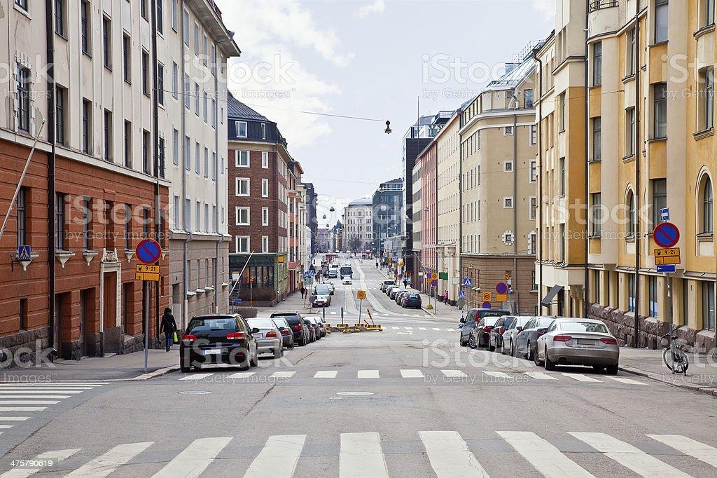 City Helsinki. Cityscape stock photo