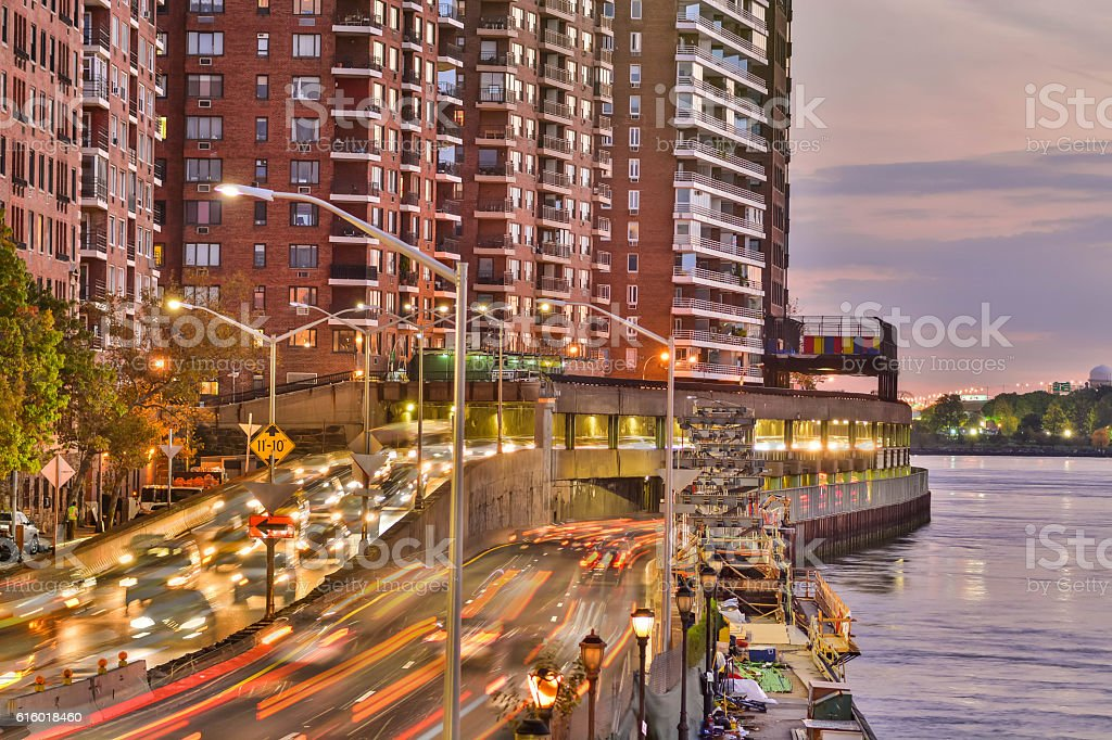 City higway by the river stock photo