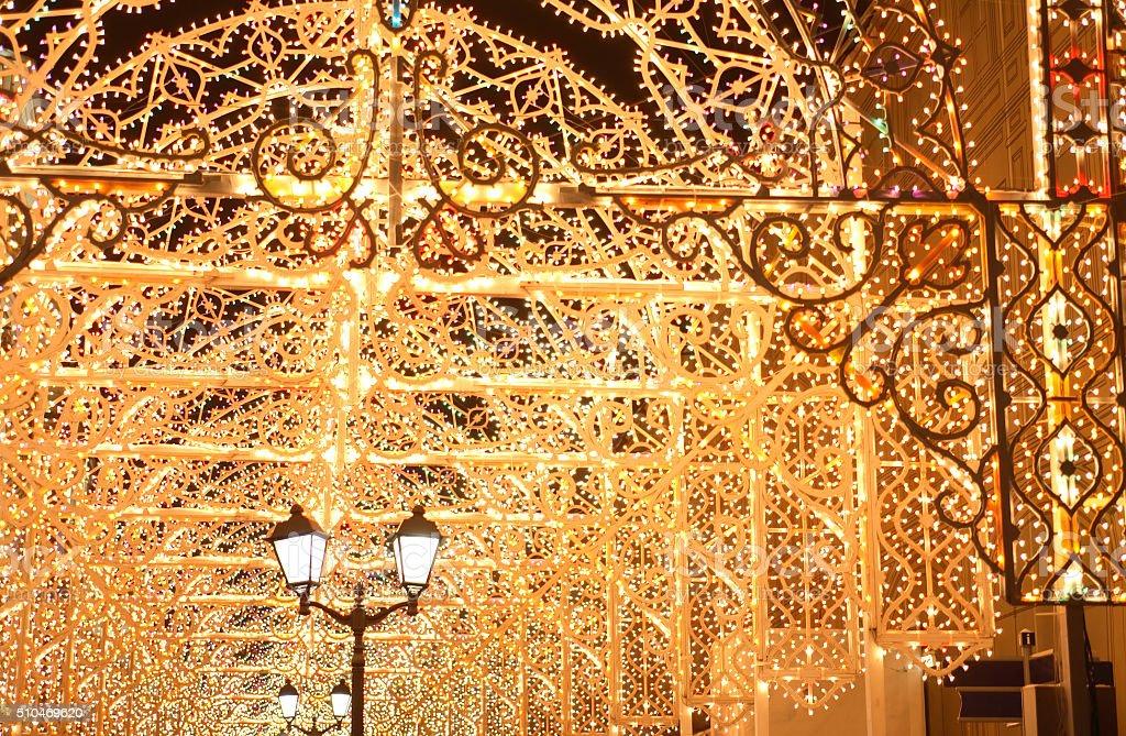 City Holiday Illumination stock photo