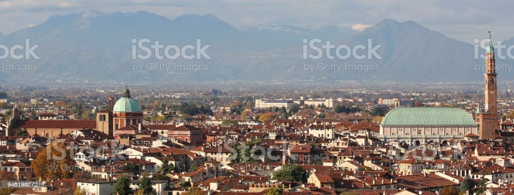 VICENZA city in Northen Italy stock photo