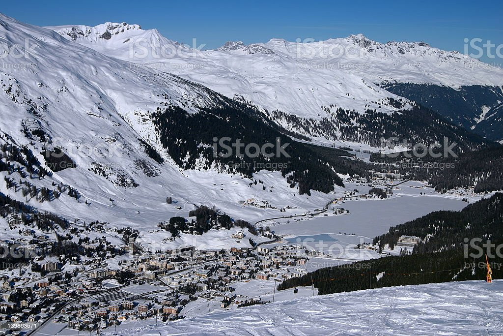 City in the Alps - Davos 1 royalty-free stock photo