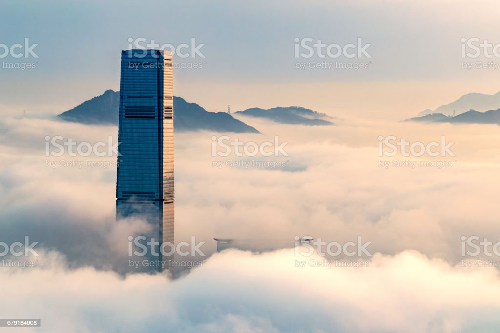 City In The Clouds stock photo