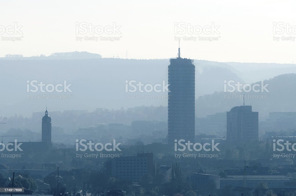 City Jena Germany with typical sillouette stock photo