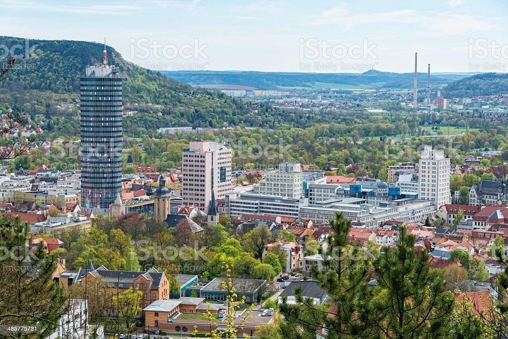 City Jena Thuringia Germany stock photo