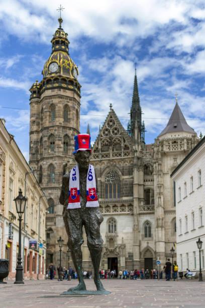 City Kosice, Slovakia during IIF World championship, 2019 stock photo