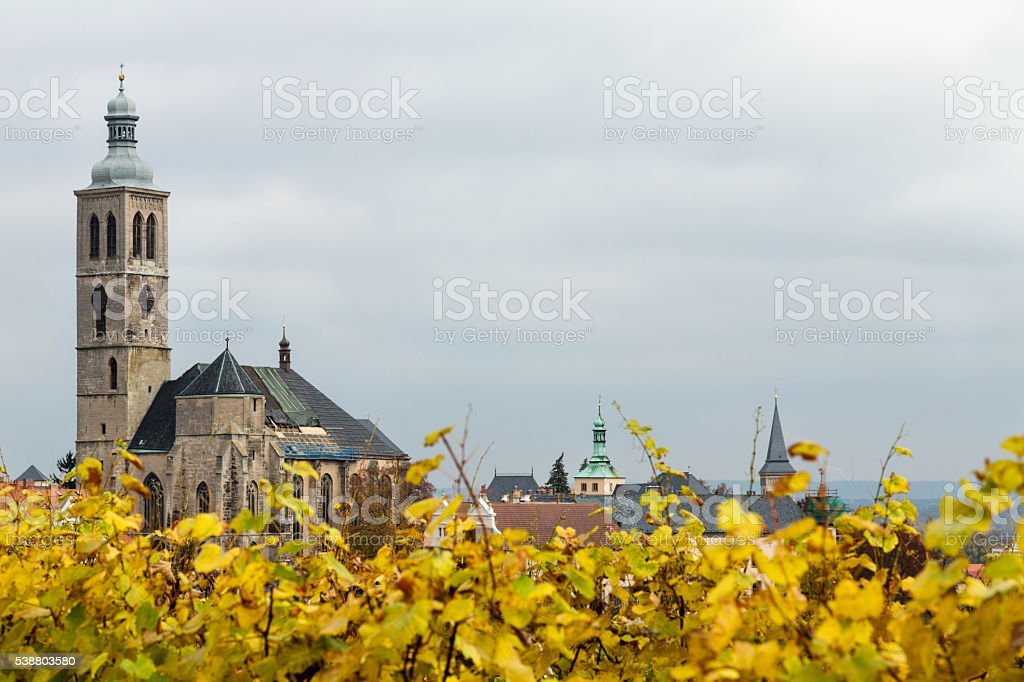 UNESCO City Kutna Hora - Church St.Jakuba stock photo