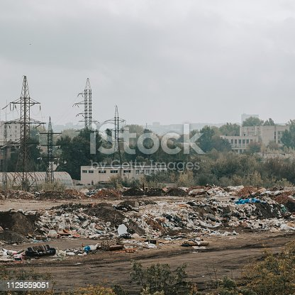 City landfill. Established waste treatment technologies. Ecology and enviromnental pollution.