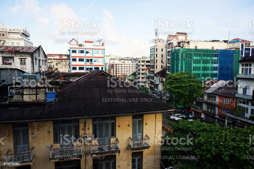 City Landscape in the Morning. stock photo