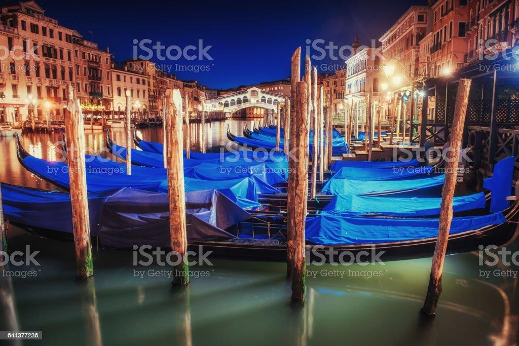 City landscape. Rialto Bridge in Venice stock photo