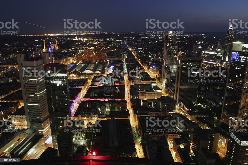 City life at night royalty-free stock photo