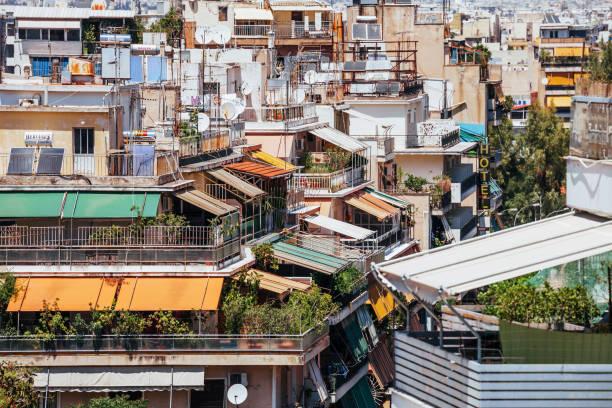 City life - Athens, Greece stock photo