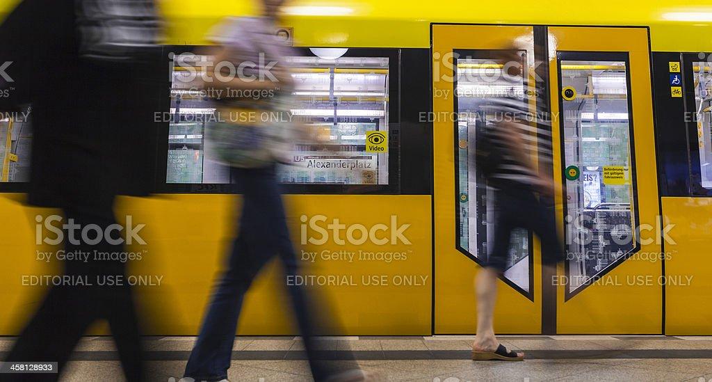 City Life, Berlin Subway royalty-free stock photo