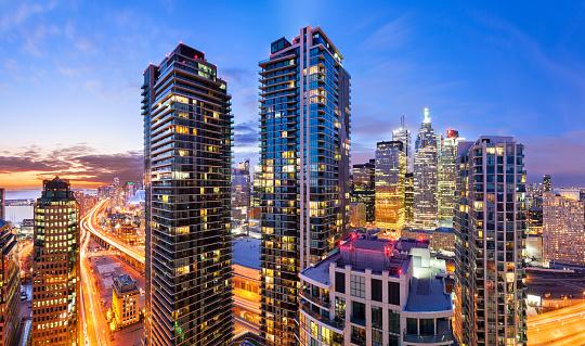 City Life Downtown Toronto Vibrant Cityscape Skyline
