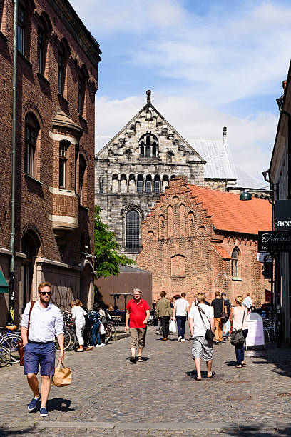 city life in lund - lund stock photos and pictures