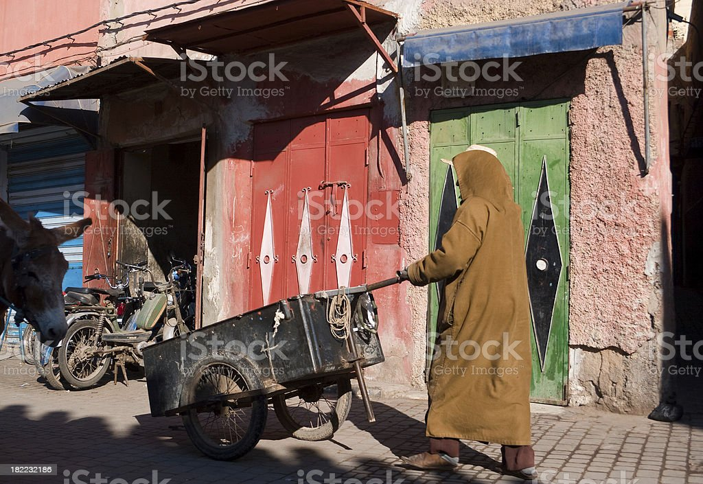 City Life in Marrakesh royalty-free stock photo