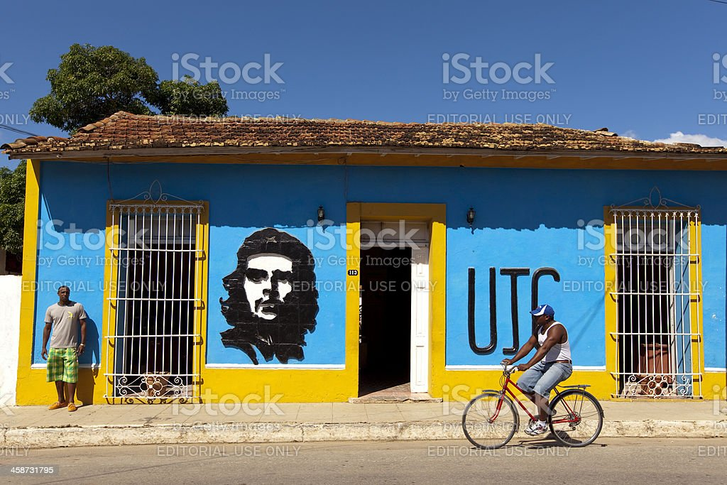 City Life in Trinidad, Cuba stock photo