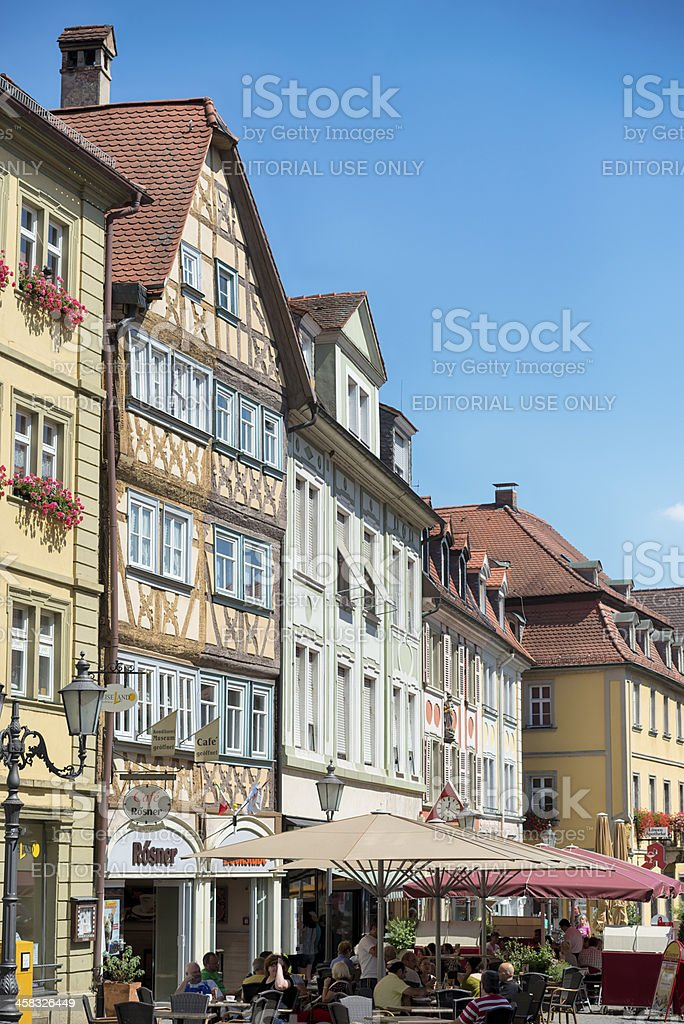 City Life Kitzingen Lower Franconia Germany royalty-free stock photo