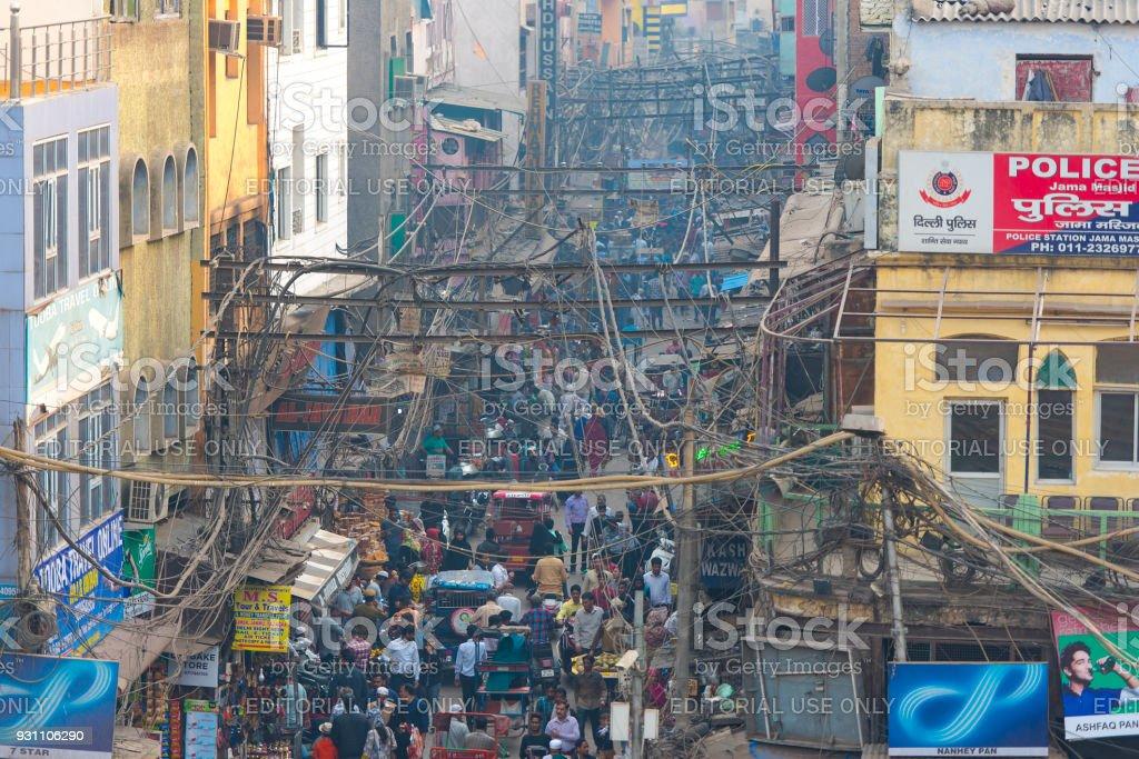 Yeni Delhi şehir hayatı insanlar ve trafik kalabalık ile 24 Şubat reçel. 2018 yılında Hindistan - Royalty-free Agra Stok görsel