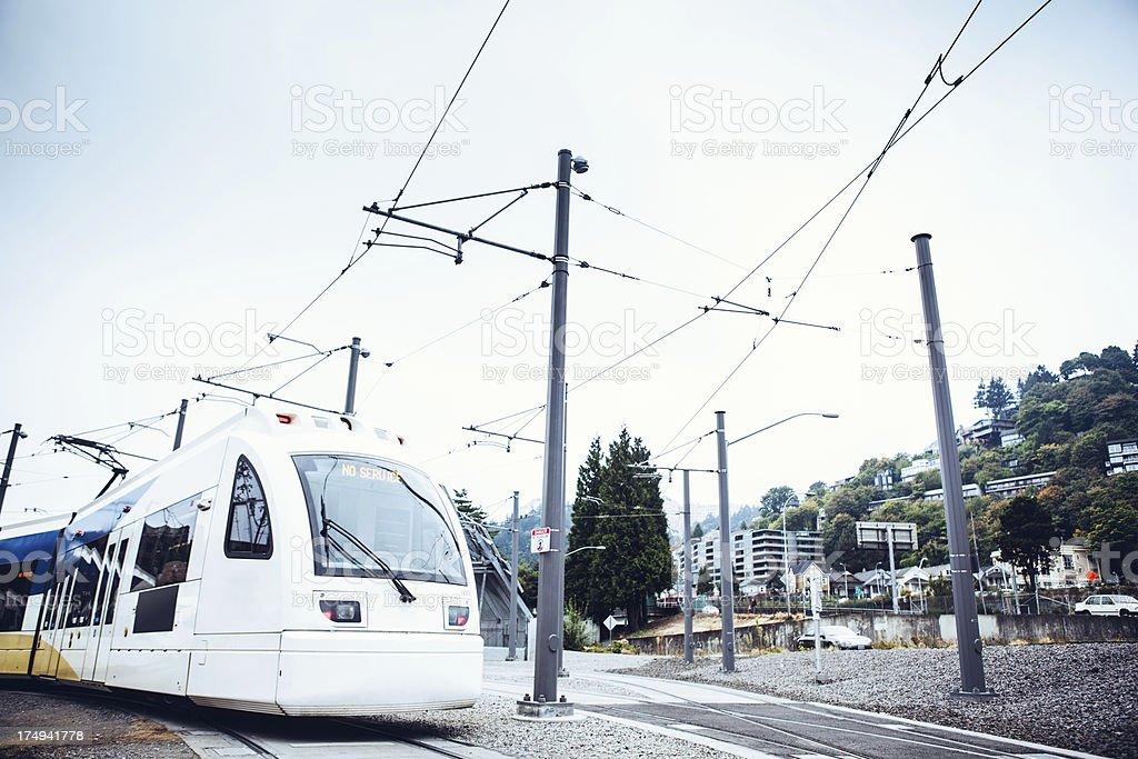City Light Rail Car royalty-free stock photo
