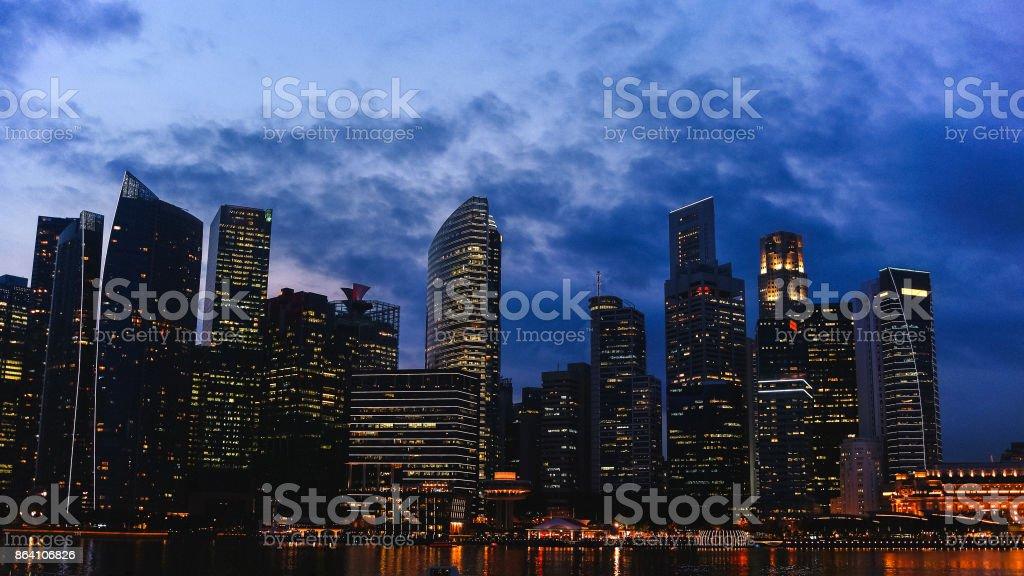 City lights at night. Night metropolis royalty-free stock photo