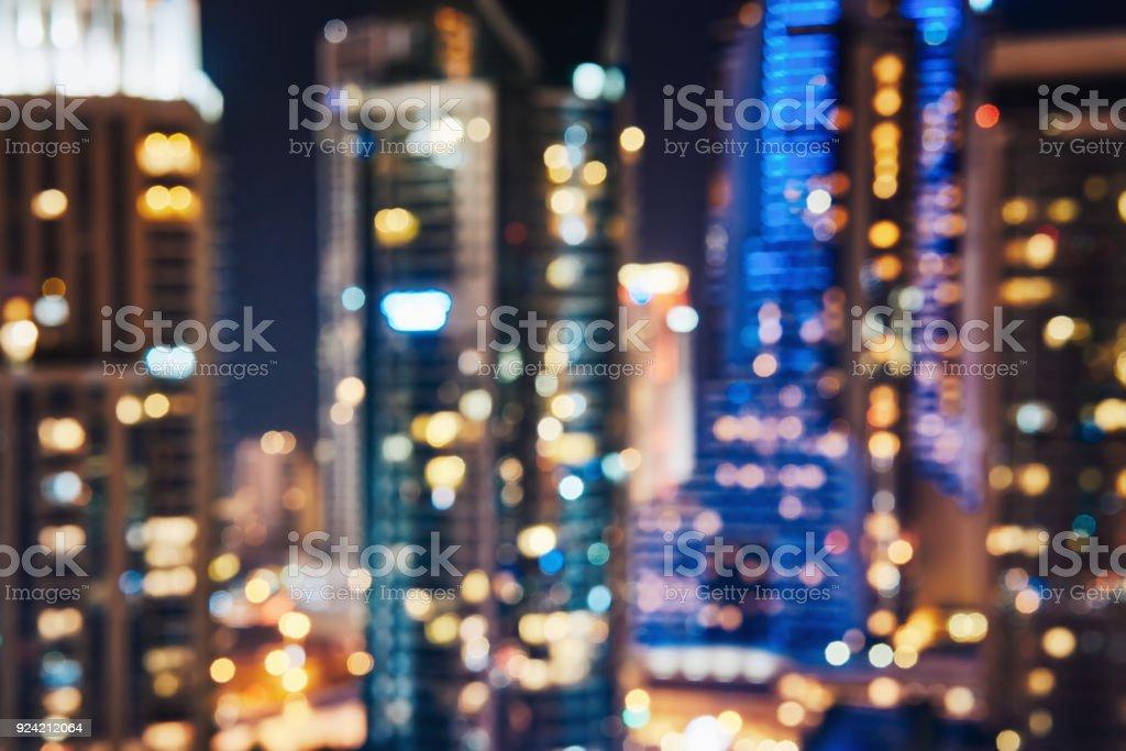 City Lights Bokeh Hintergrund unscharf – Foto