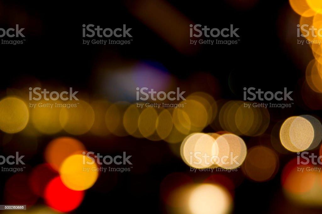 City Lights Bokeh stock photo