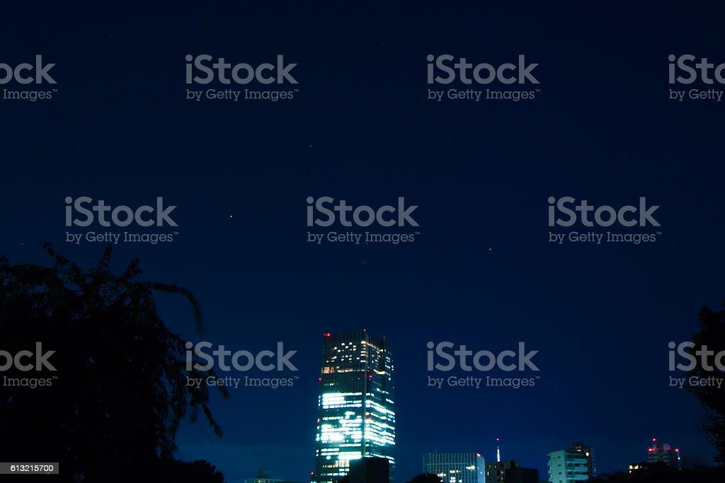 City lights in Tokyo ストックフォト