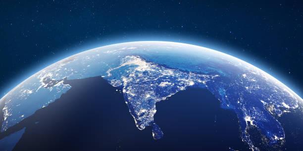 Stadtlichter Indien – Foto