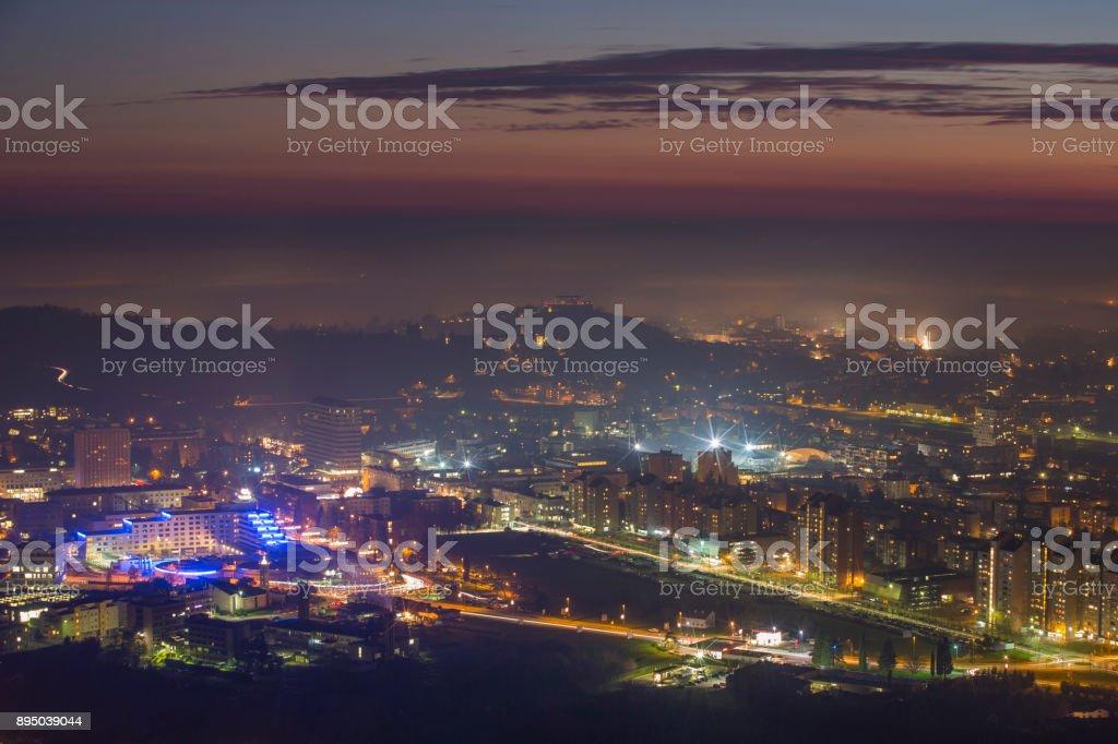 City Lights Night stock photo