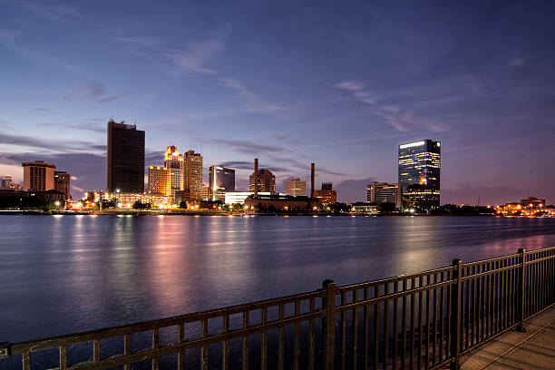 City Lights Skyline stock photo