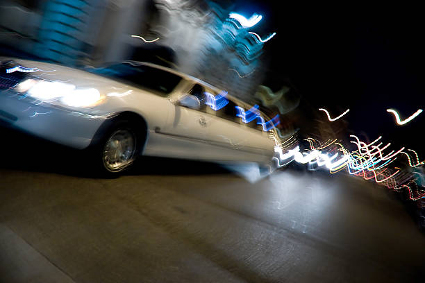 City Limo at Night  prom night stock pictures, royalty-free photos & images