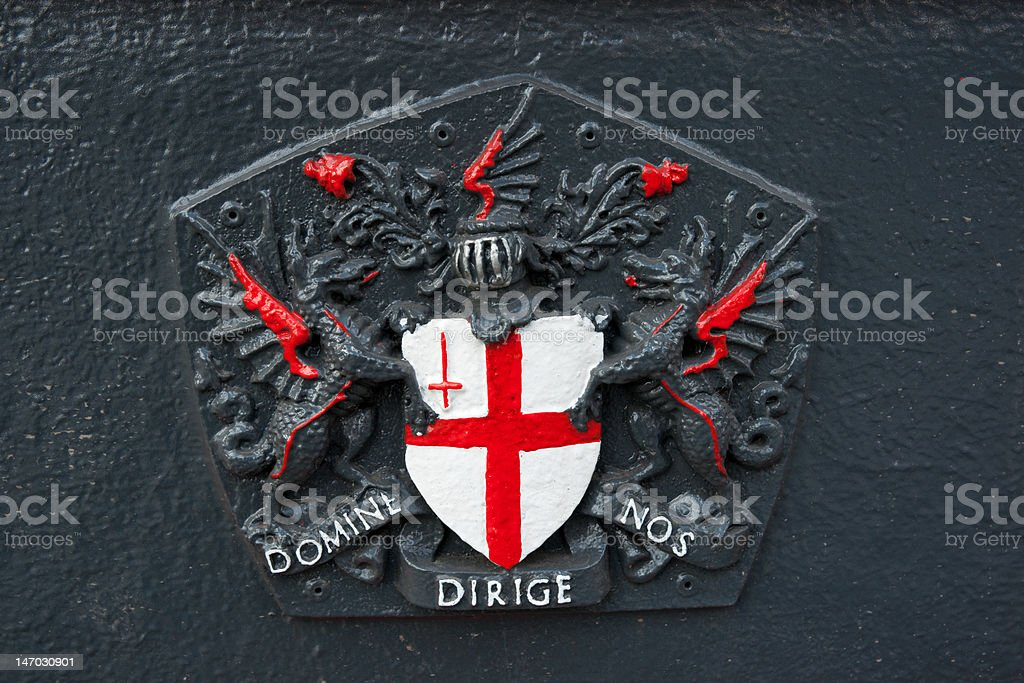 City London coat of arms royalty-free stock photo