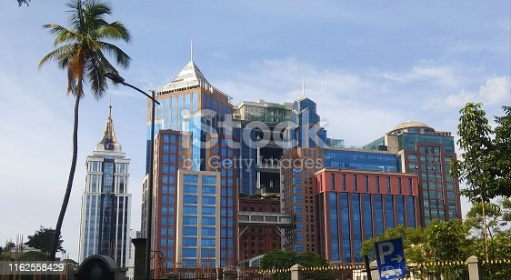 UB city mall and other high raise beautiful buildings in Bengaluru/Bangalore, India. These buildings are owned by kingfisher.