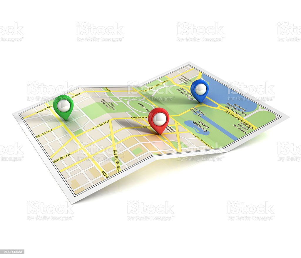 city map 3d illustration stock photo