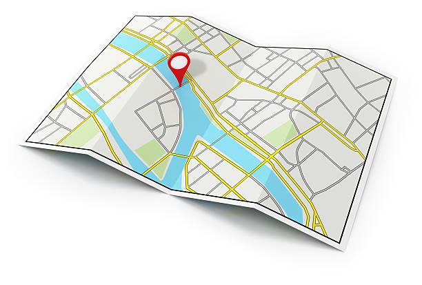 plan de la ville - épingler photos et images de collection
